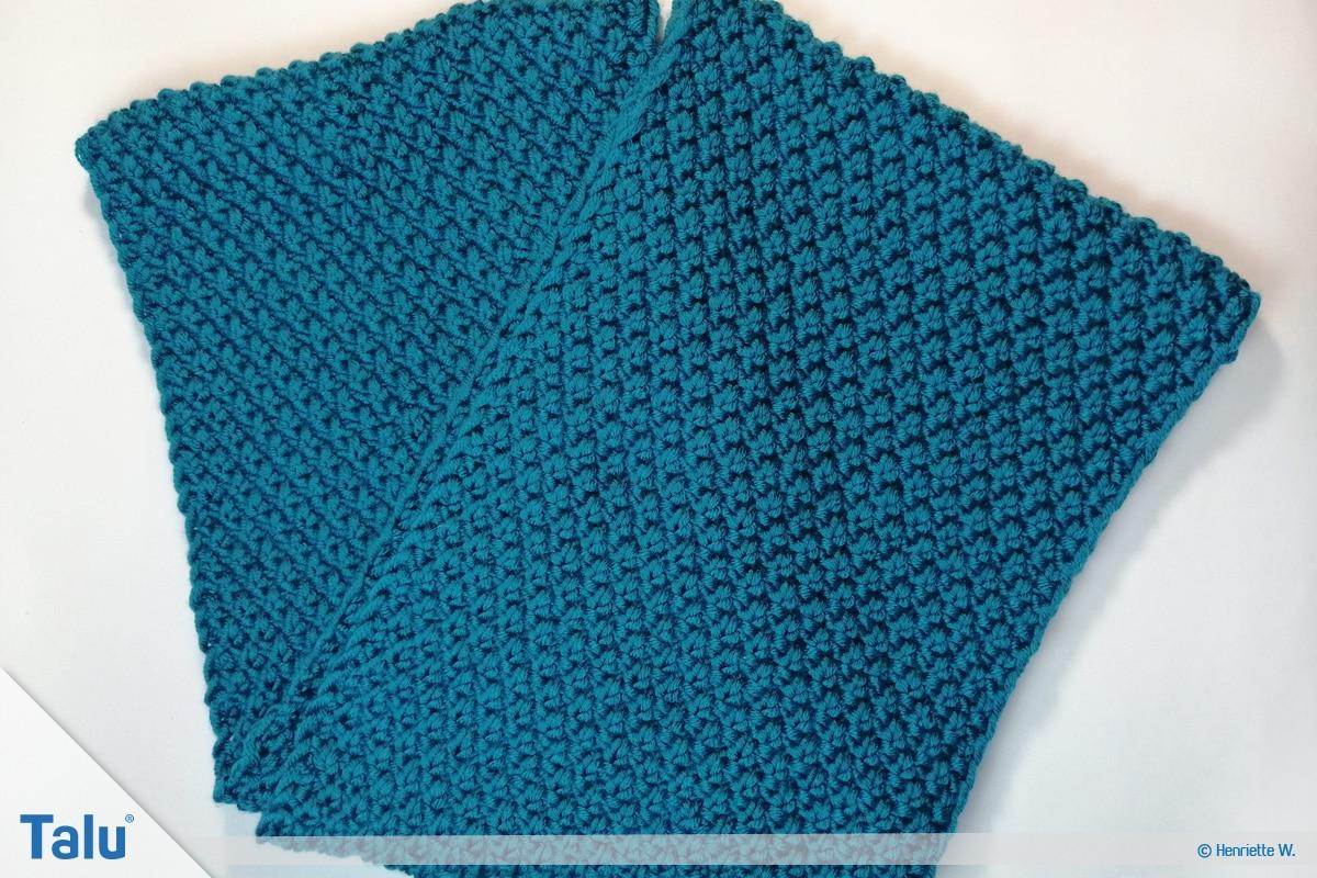 Schlauchschal stricken, fertiger Schal