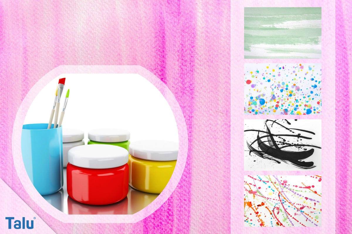 Seidenmalerei, verschiedene Muster-Variationen