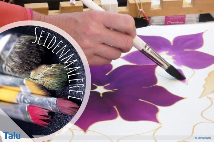 Seidenmalerei, Grundlagen und Technik