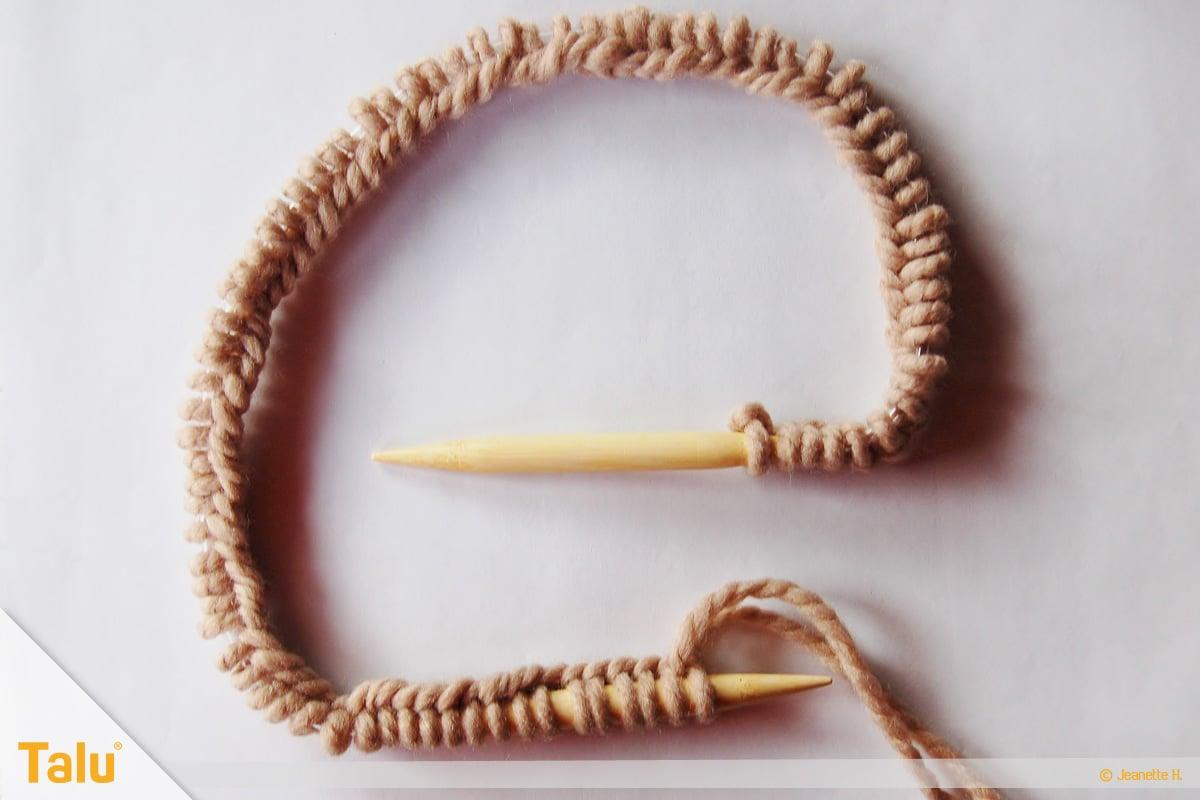 Strickjacke stricken, Maschenanschlag
