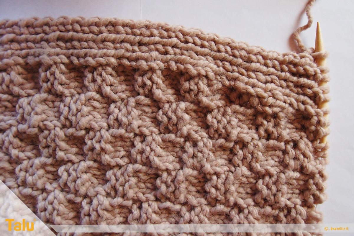 Strickjacke stricken, vor der Teilung