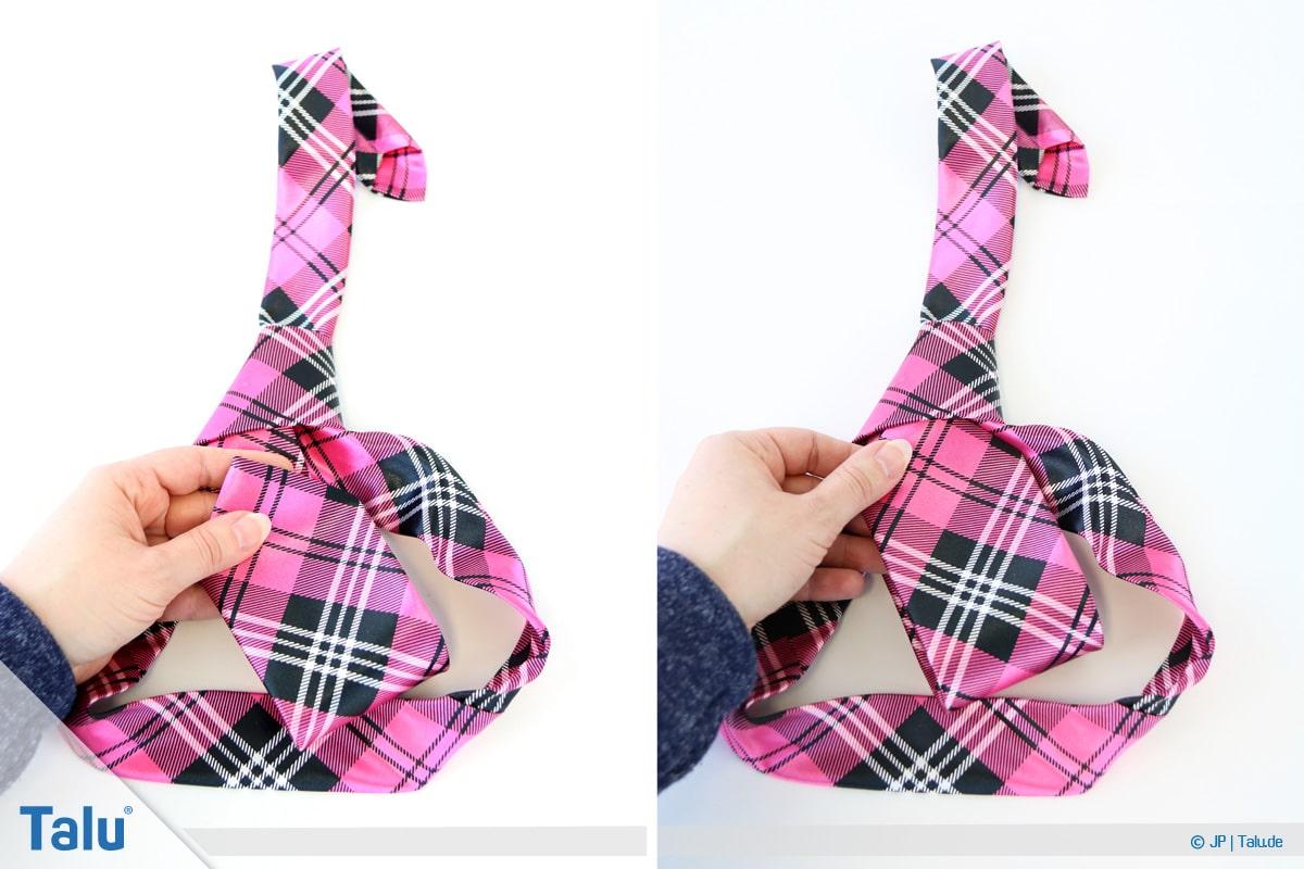 Windsorknoten binden, Doppelten Windsorknoten mit einer Krawatte knoten