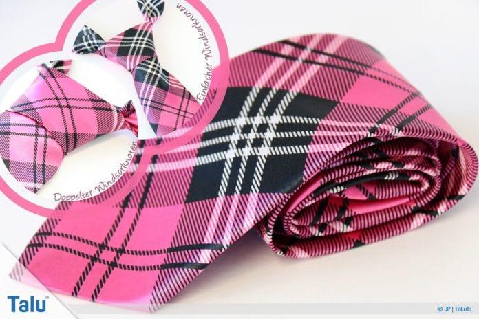 Windsorknoten binden, einfachen und doppelten Knoten