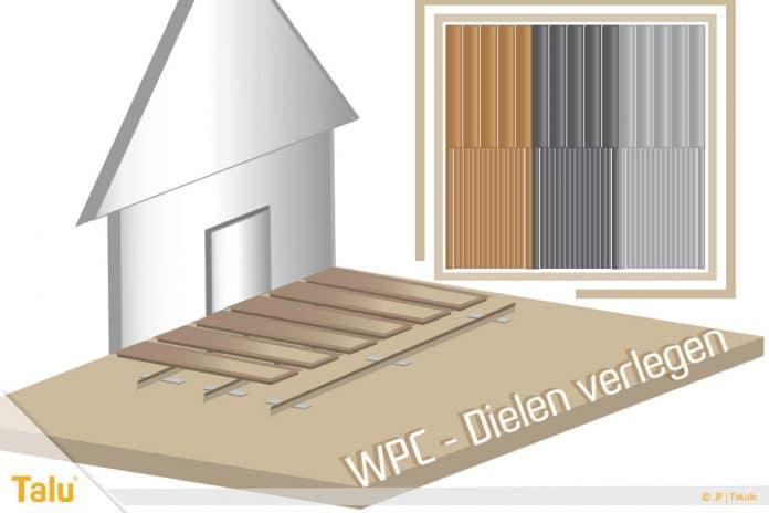 WPC-Dielen verlegen, Terrasse anlegen