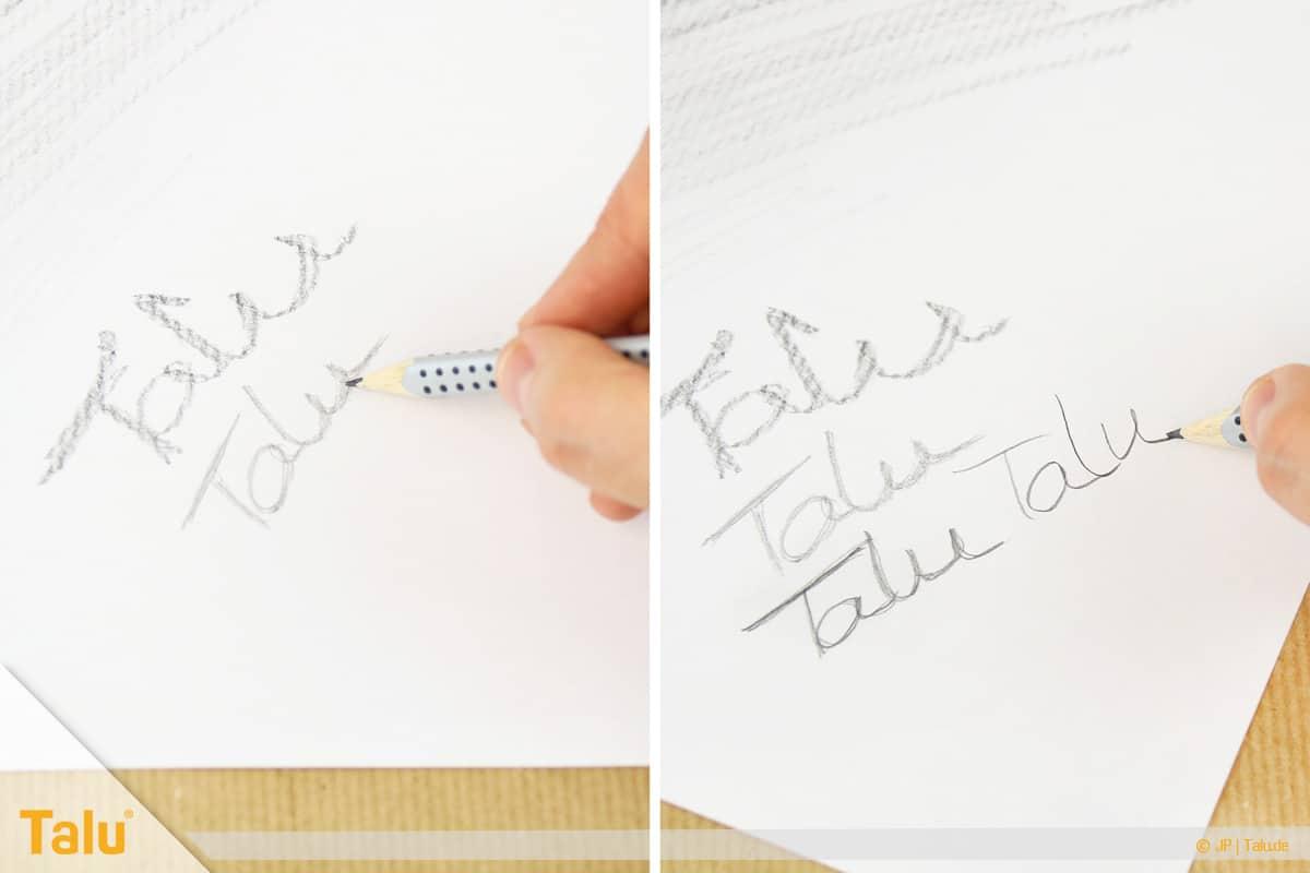 Zeichnen lernen für Anfänger, verschiedene Bleistifthärtegrade