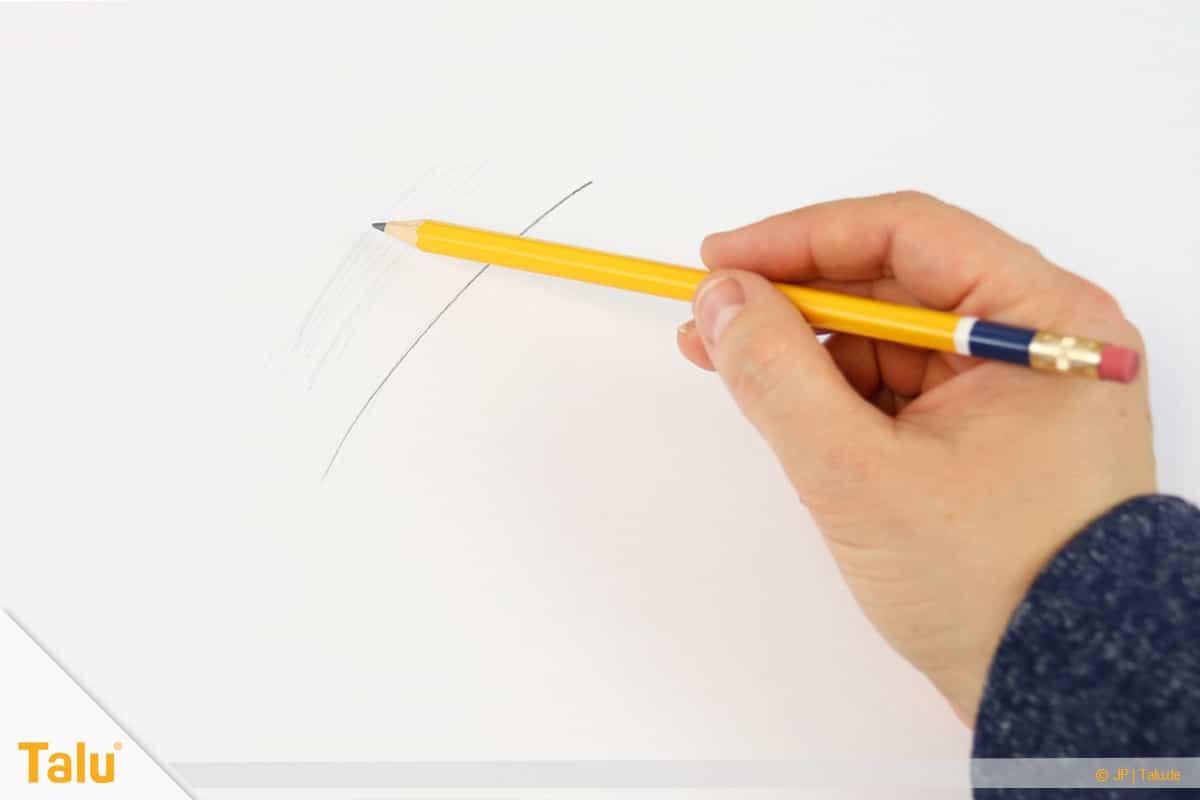 Zeichnen lernen für Anfänger, Bleistift richtig halten und führen