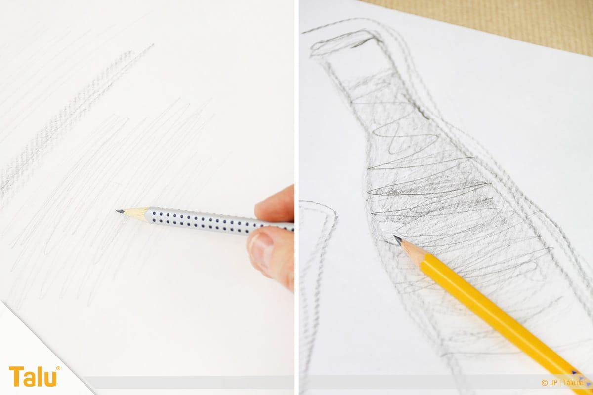 Zeichnen lernen für Anfänger, Bleistiftzeichnungen anfertigen