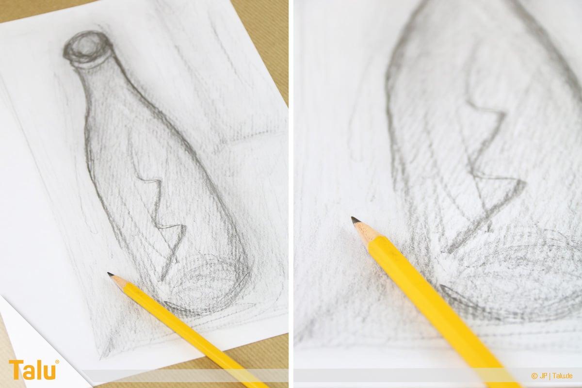 Zeichnen lernen für Anfänger, Freihandzeichnung mit Bleistift