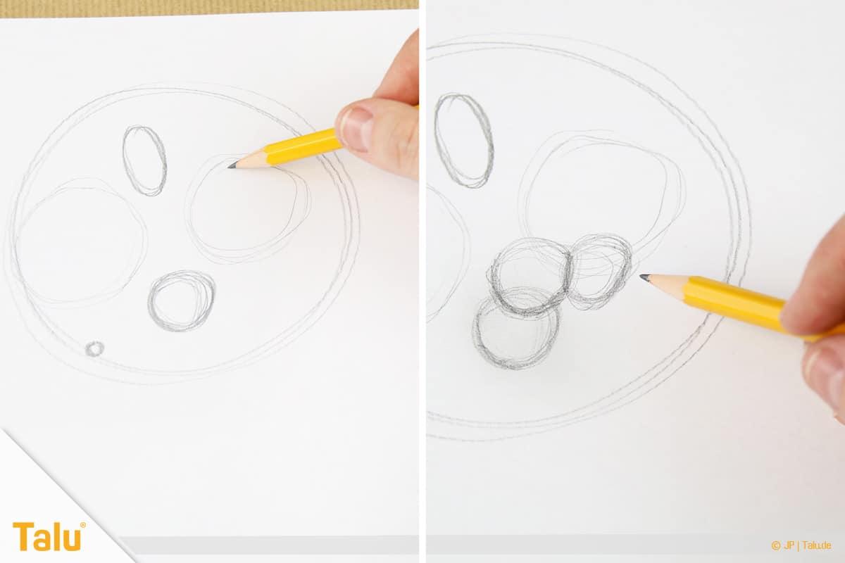 Zeichnen lernen für Anfänger, Kreise auf Papier zeichnen