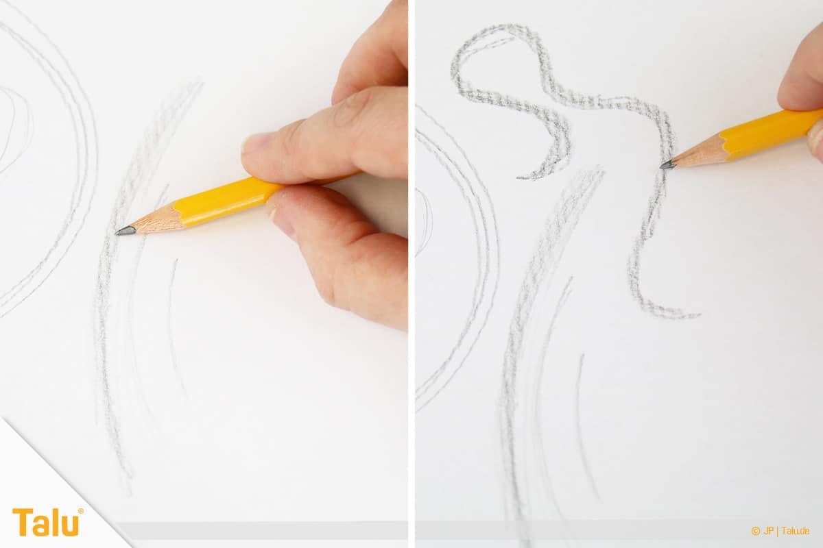 Zeichnen lernen für Anfänger, Bögen und Kurven zeichnen