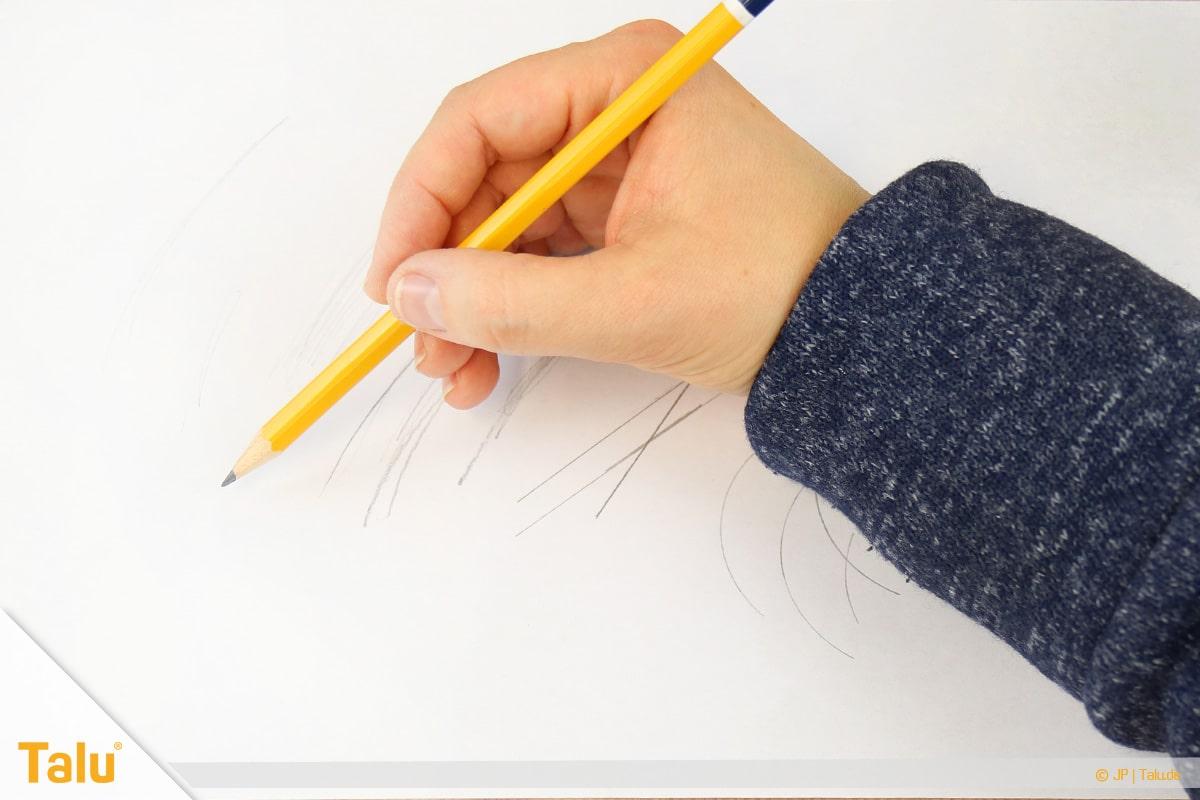 Zeichnen lernen für Anfänger, Lichteinfall beim Zeichnen