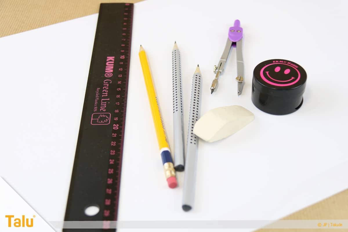 Zeichnen lernen für Anfänger, Zeichenutensilien