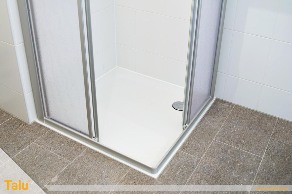Duschkabine abdichten, Dusche im Badbereich