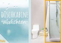 Duschkabine abdichten, DIY-Anleitung