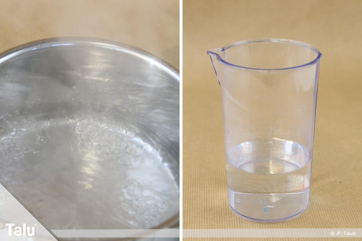 Essbaren Kleber selber machen, CMC-Kleber, Wasser abkühlen lassen