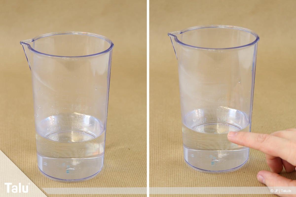 Essbaren Kleber selber machen, CMC-Kleber, Wasser abmessen