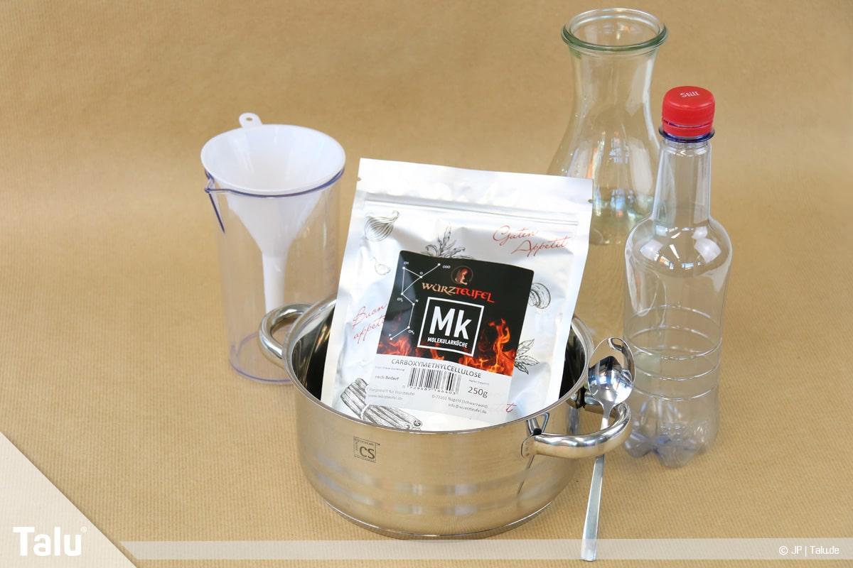 Essbaren Kleber selber machen, CMC-Kleber, Material