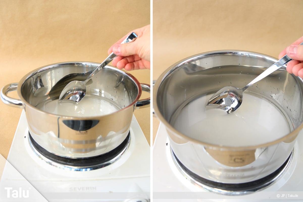 Essbaren Kleber selber machen, Zuckerkleber, Zucker-Wasserlösung