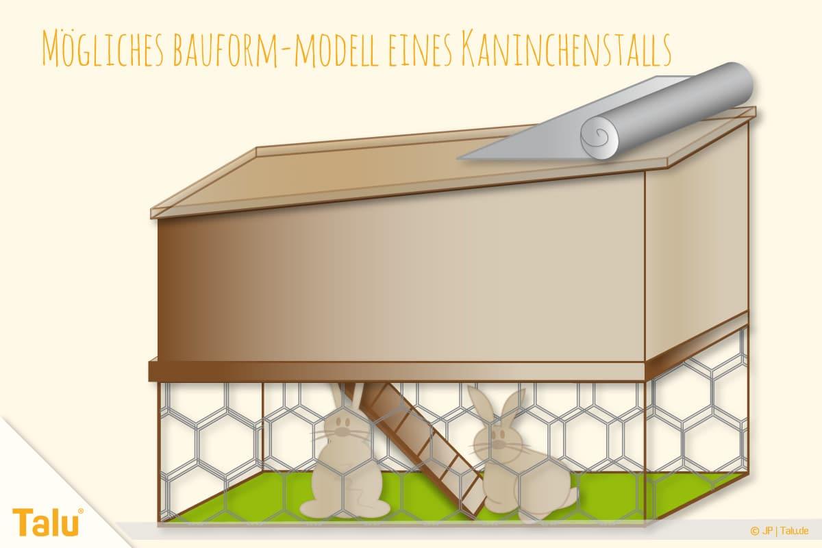 Kaninchenstall selber bauen, Hasenstall selber bauen, Kaninchenstall-Modell