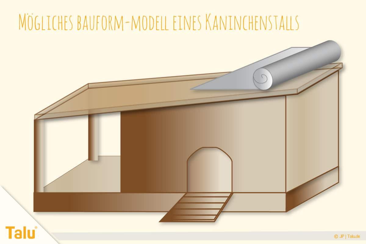 Kaninchenstall selber bauen, Hasenstall selber bauen, Hasenstall-Modell