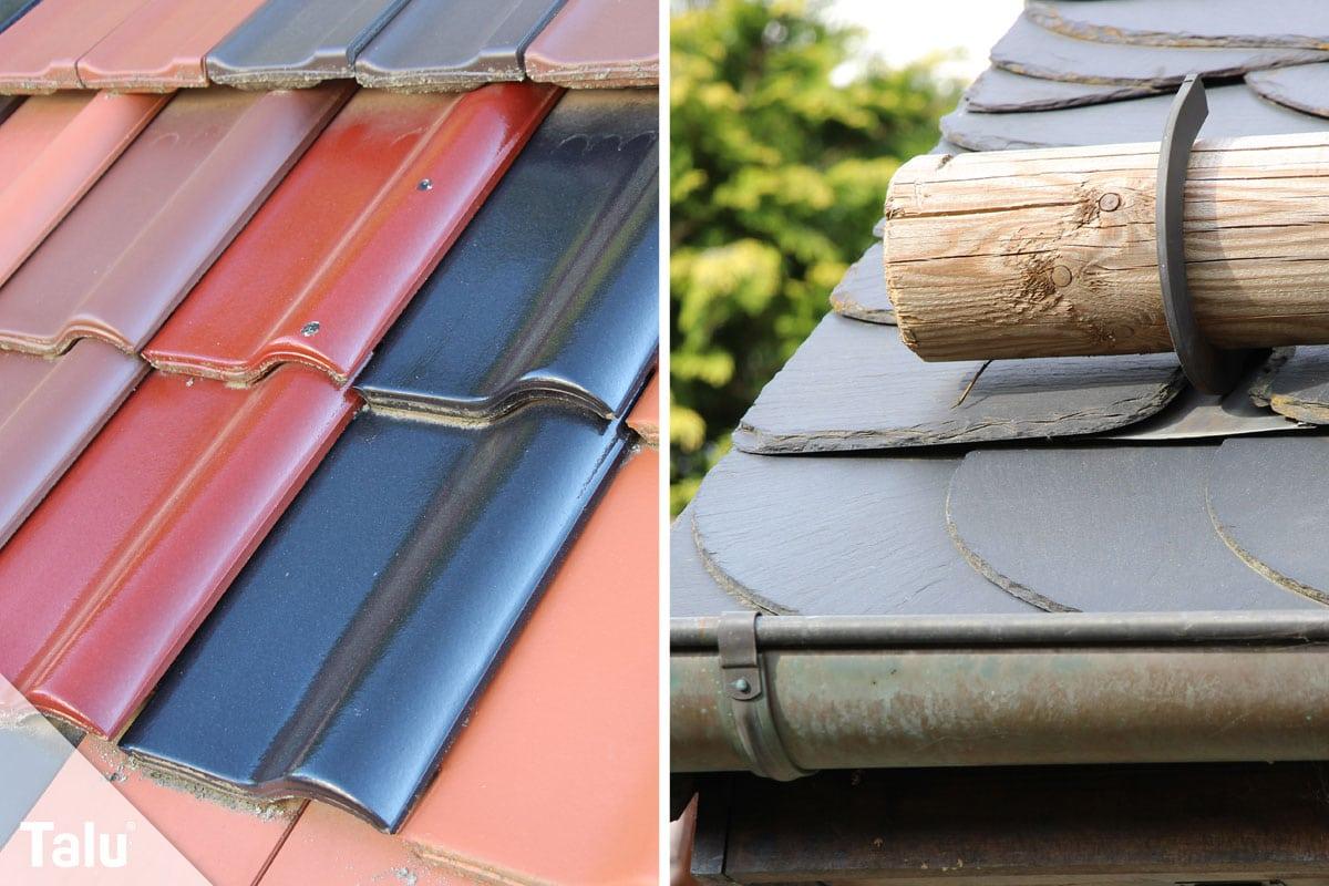 Regenwasser für Toilette und Waschmaschine benutzen, unterschiedliche Dachdeckung