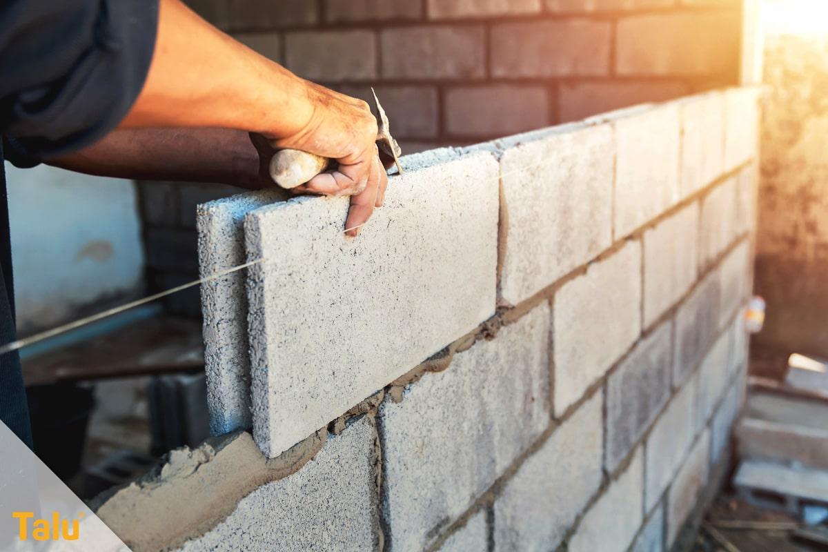 Was gehört zum Rohbau, Mauerwerk entsteht