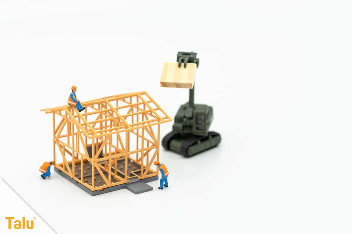 Was gehört zum Rohbau, Modell eines Eigenheims