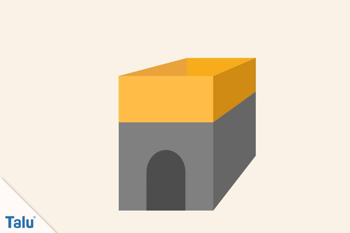 Spielhaus aus Pappe bauen, Kartonteile nach oben klappen