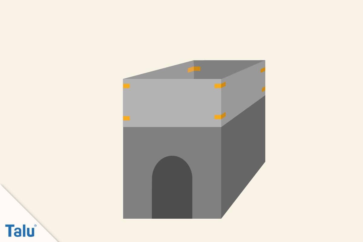 Spielhaus aus Pappe bauen, Isolierband einsetzen