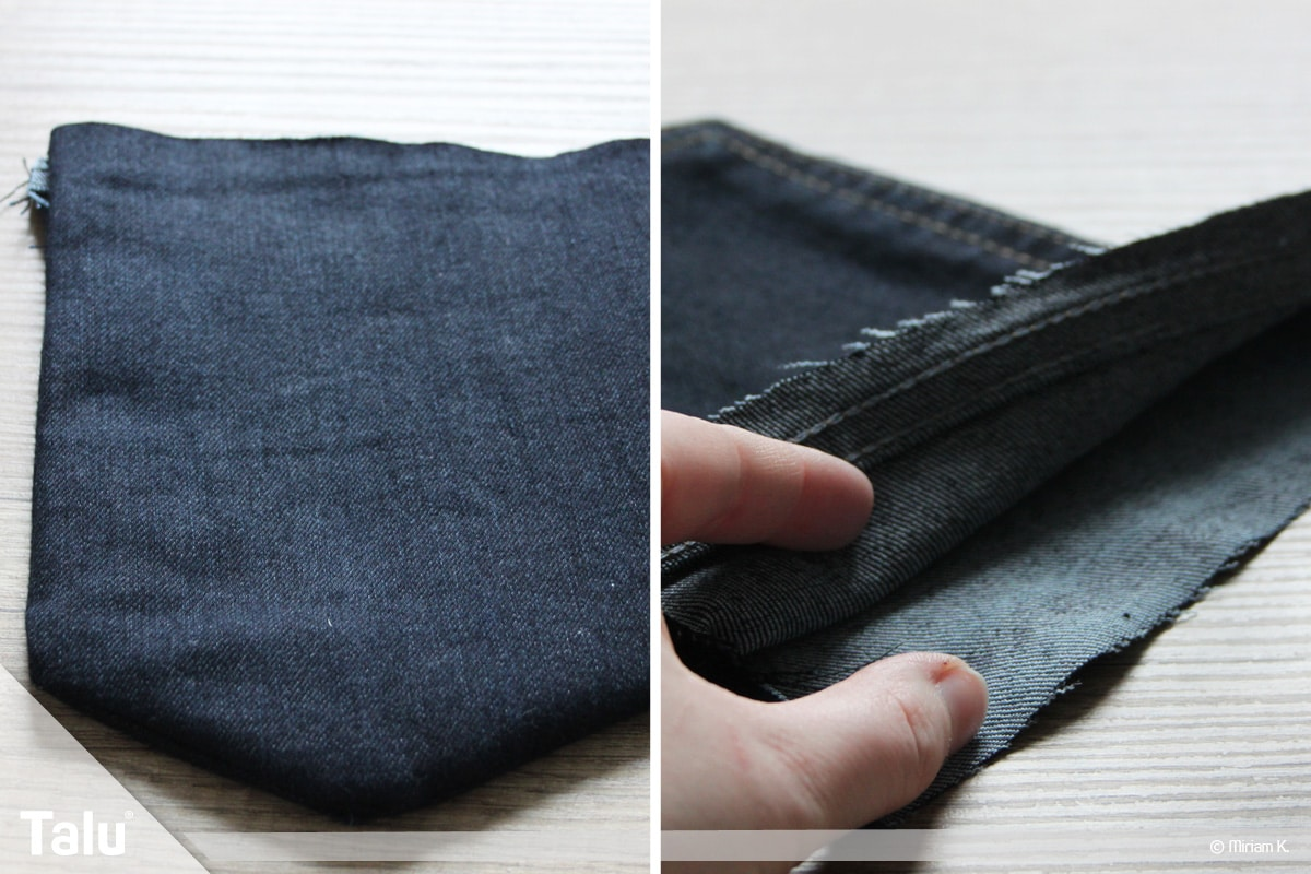 Upcycling Jeans, genähte Handytasche