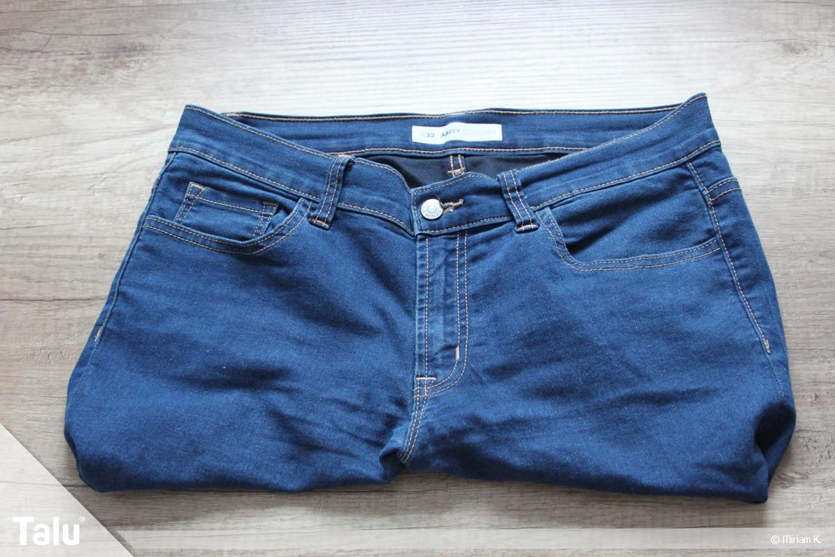 Upcycling Jeans, Tasche zusammengenäht