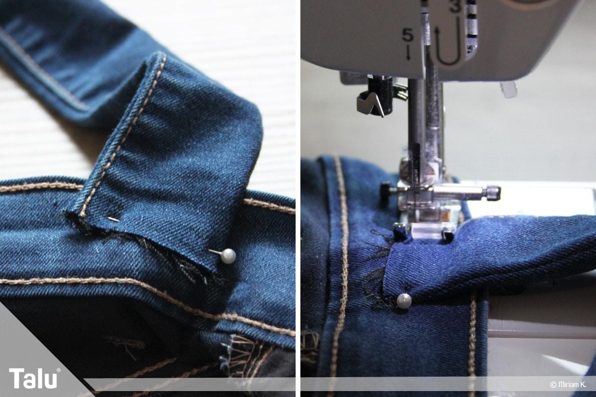 Upcycling Jeans, Tasche als Umhängetasche nähen