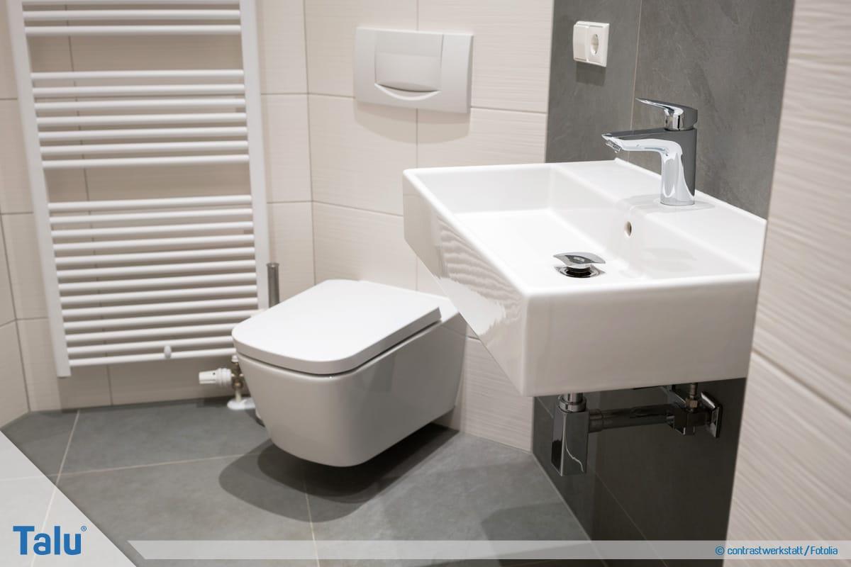 Waschbecken montieren, ideale Waschbeckenhöhe