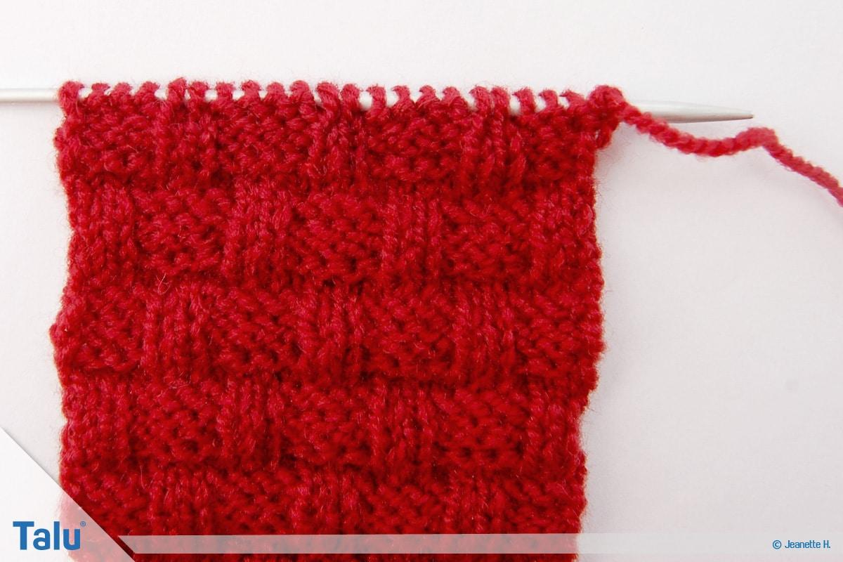 Welche Wolle für Babydecke, Flechtmuster stricken