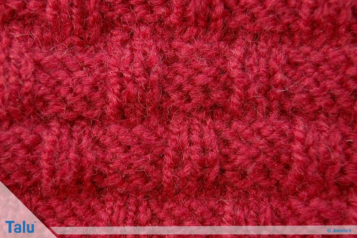 Welche Wolle für Babydecke, Flechtmuster fertig gestrickt