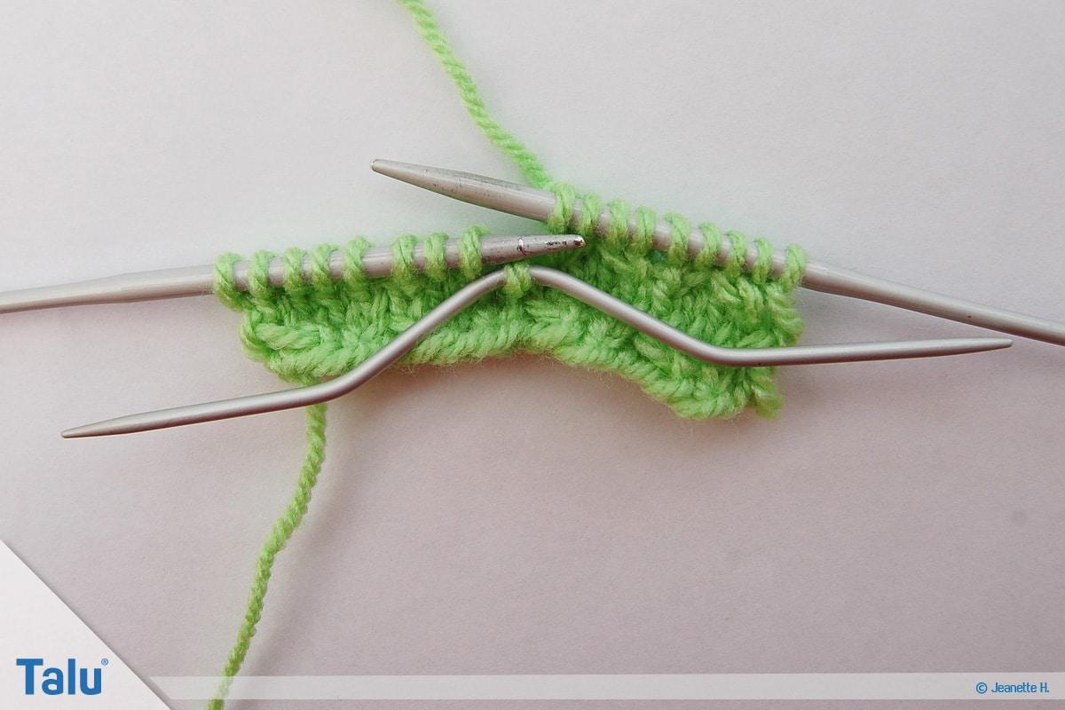 Welche Wolle für Babydecke, Wabenmuster, Beginn