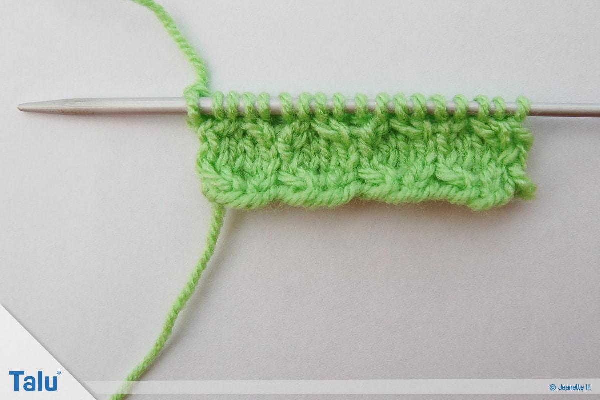 Welche Wolle für Babydecke, Wabenmuster stricken für eine Babydecke