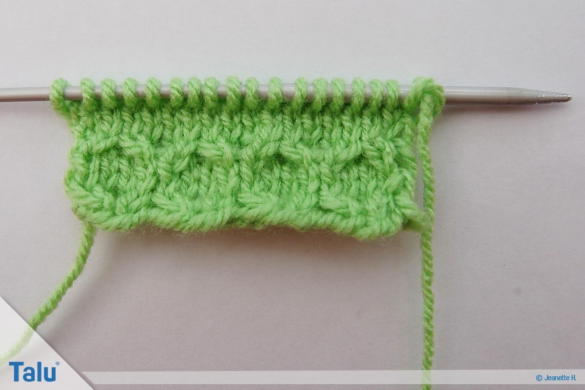 Welche Wolle für Babydecke, Wabenmuster mit Wolle stricken