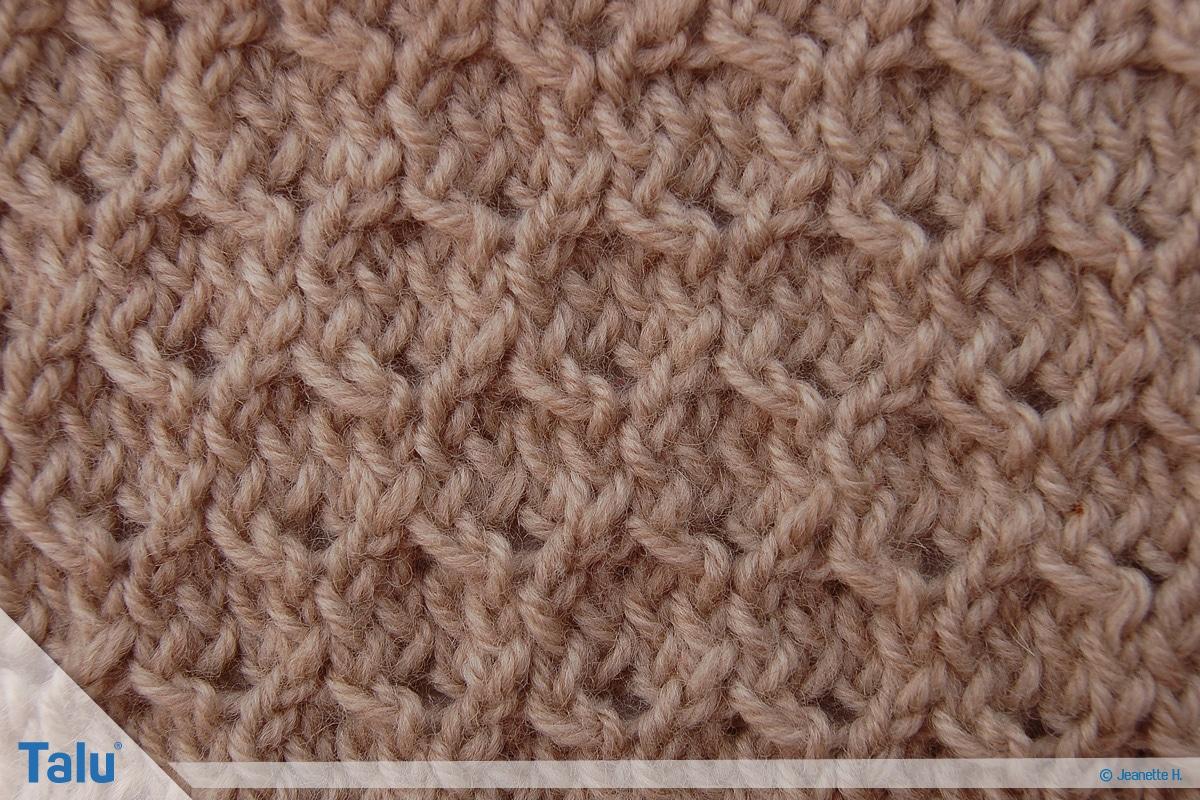 Welche Wolle für Babydecke, Wabenmuster fertig gestrickt