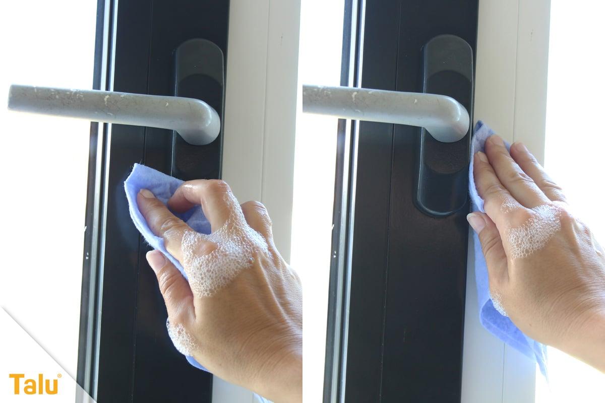 Fensterrahmen abdichten, vor dem Abdichten reinigen