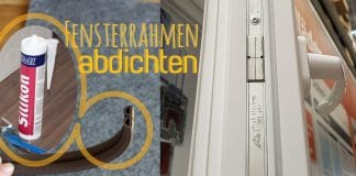 Fensterrahmen abdichten, Anleitung für Silikon, Acryl & Co.