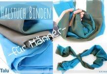 Halstuch binden für Männer, schicke Varianten für Tuch und Schal