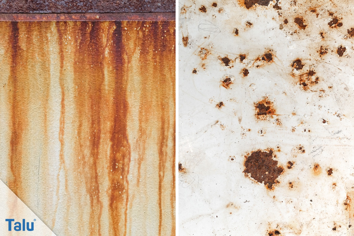 Metall entrosten, Rost effektiv entfernen, rostiges Metall
