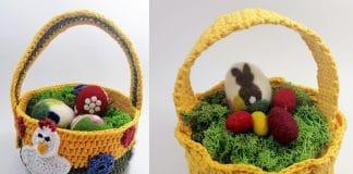 Osterkörbchen häkeln, kostenlose Anleitung für einen Osterkorb