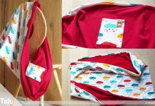 Stillschal nähen aus Jersey, Anleitung für Schal mit Einschub