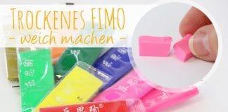 Trockenes FIMO wieder weich machen, Anleitung