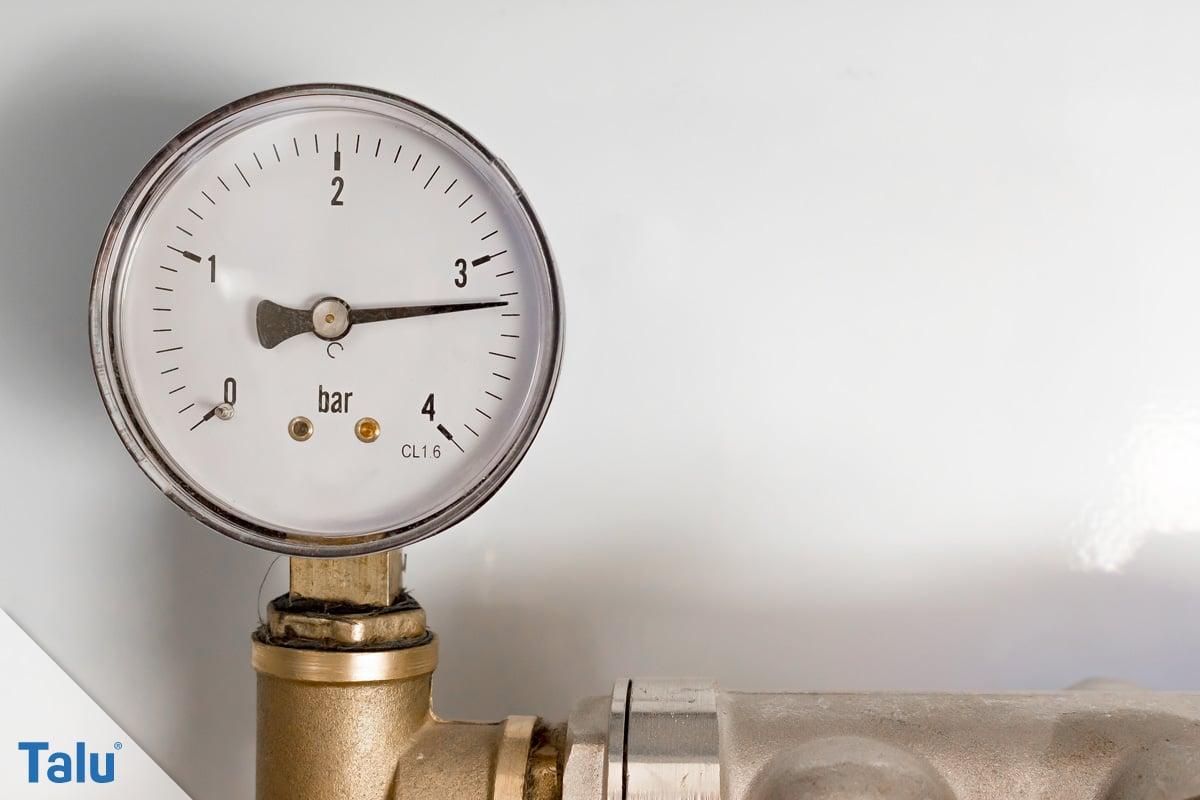 Wasserdruck im Haus, Manometer