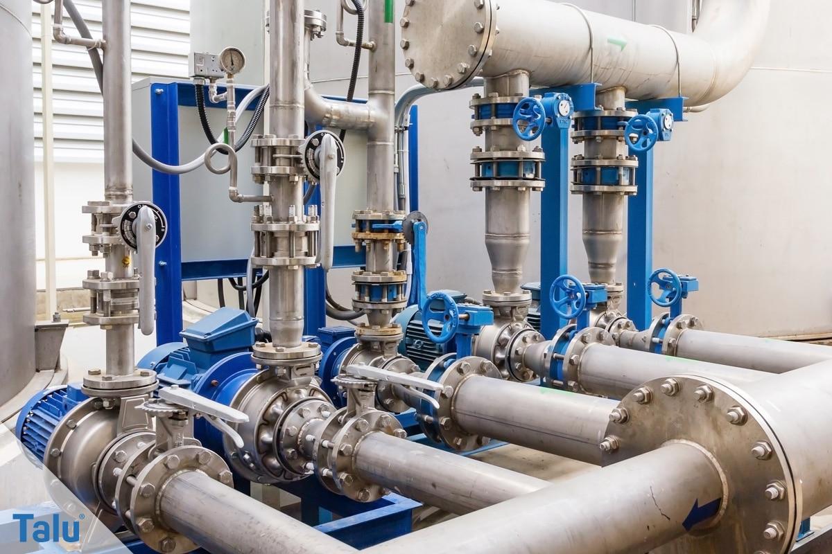 Wasserdruck im Haus, Wasserpumpstation