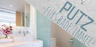Welcher Putz ist fürs Badezimmer geeignet, Kalkputz, Rollputz und Co.