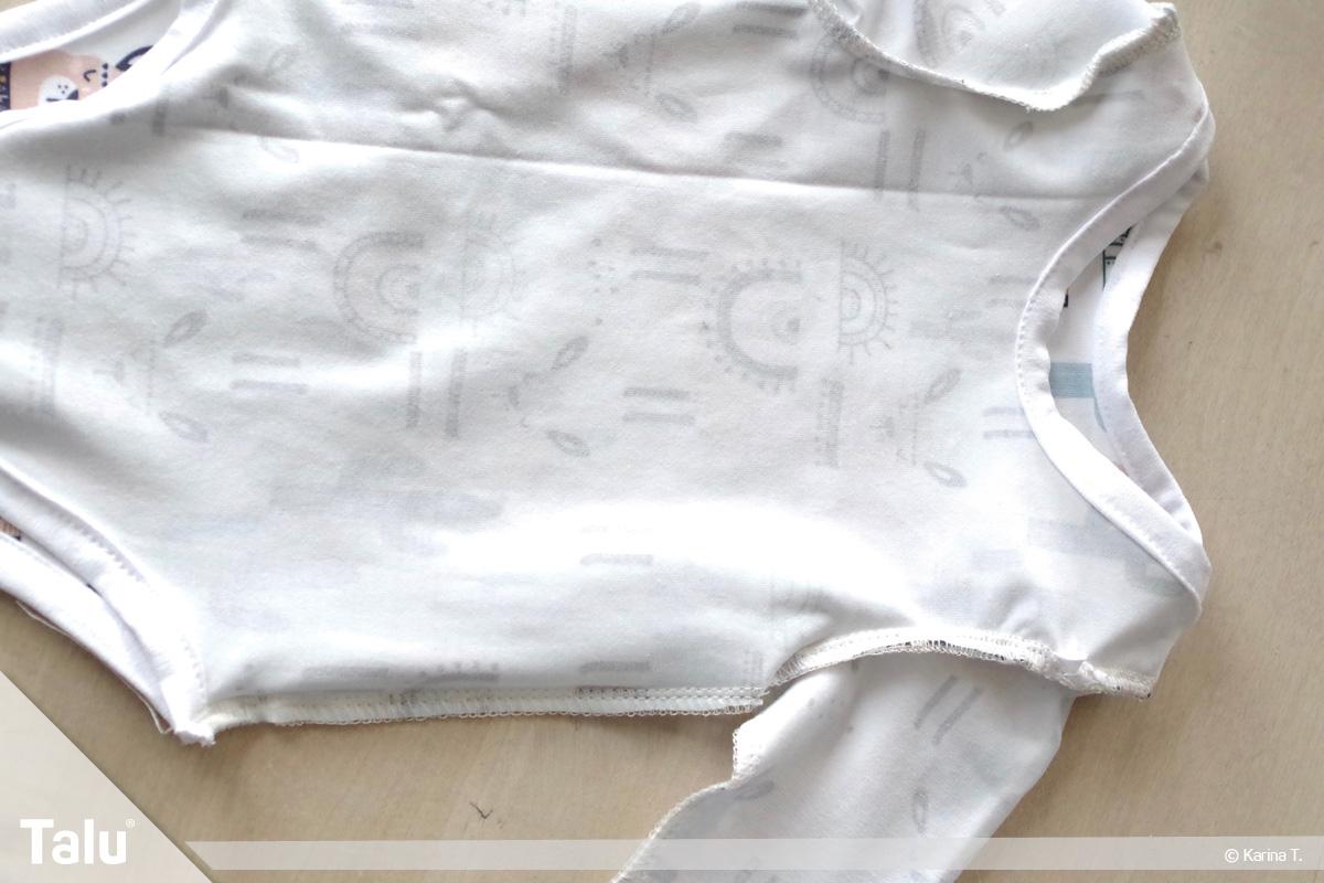 Baby Body nähen, Body auf Links gedreht zusammennähen
